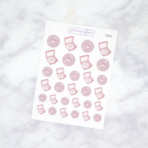 Plannerface Vinyl Record Doodles Planner Stickers
