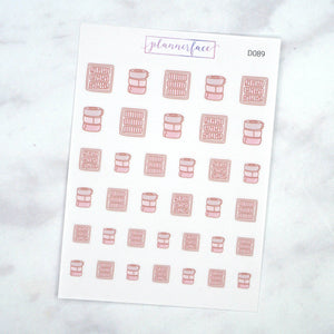 Plannerface Washi Storage Doodles Planner Stickers