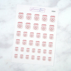 Plannerface Wax Melt Doodles Planner Stickers