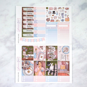 Plannerface We're All Mad Here Weekly Kit Planner Stickers