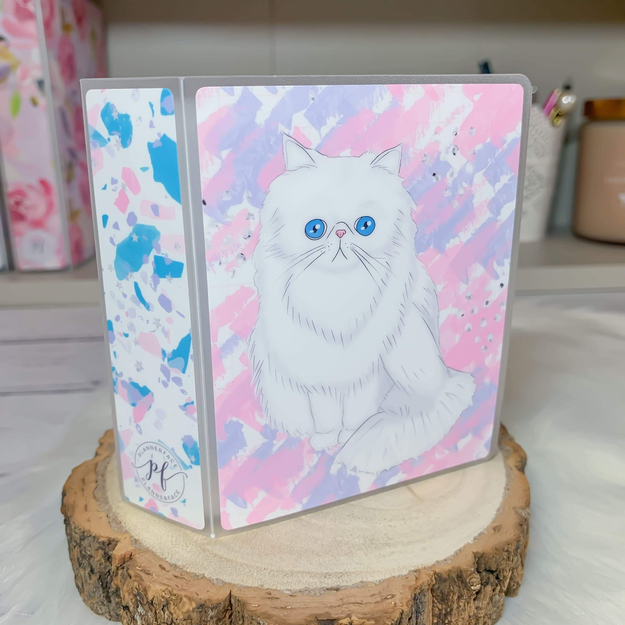 Plannerface White Cat Sticker Album (Mini) Planner Stickers
