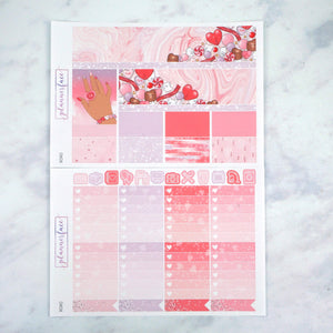 Plannerface XOXO Weekly Kit Planner Stickers