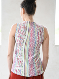 Super Flattering Sleeveless Vest - Art Fabrics