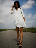 Oversize White Tunic Dress