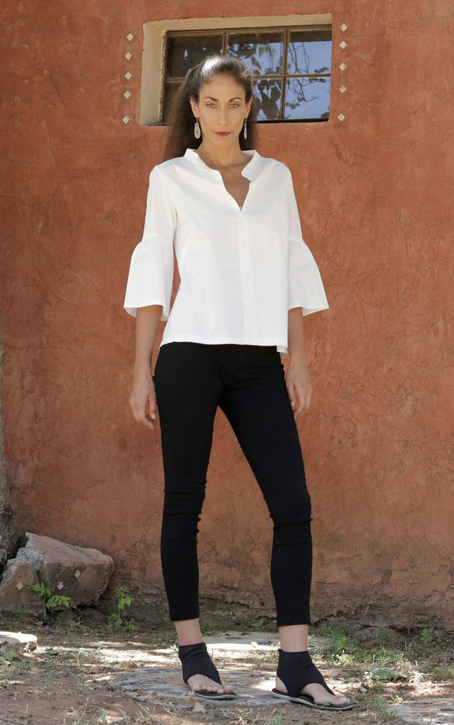 White Italian Cotton Blouse