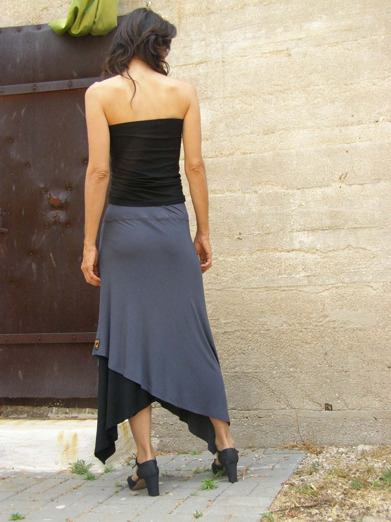 Mix and Match Layered Diagonal Skirt