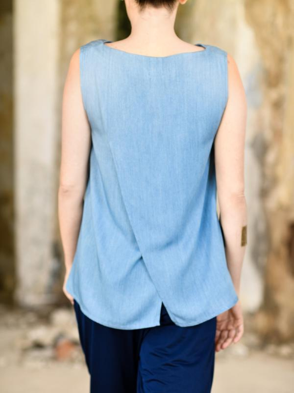 Casual Split Back Blouse