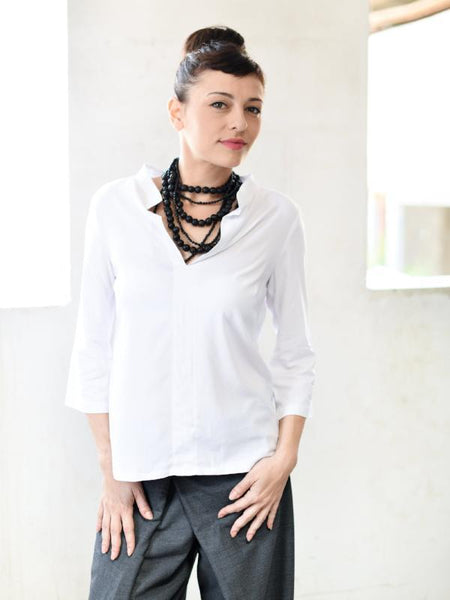 Perfect Mid Sleeve Blouse With Chinese Collar