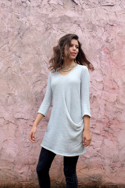 Light Grey Pocket Tunic