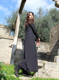 Black Oversize Cotton Maxi Dress