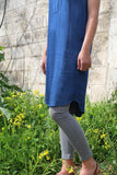 V Neck Denim Dress
