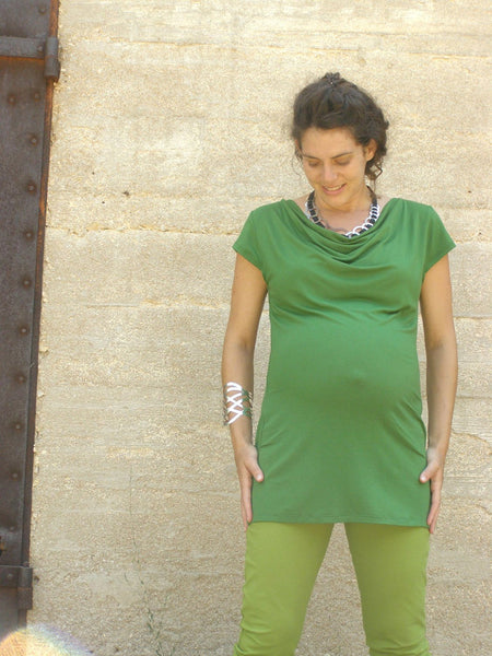 Cowl Neck Maternity Tunic