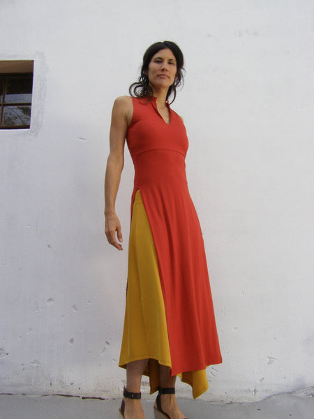 Asian Maxi Sleeveless Tunic Dress
