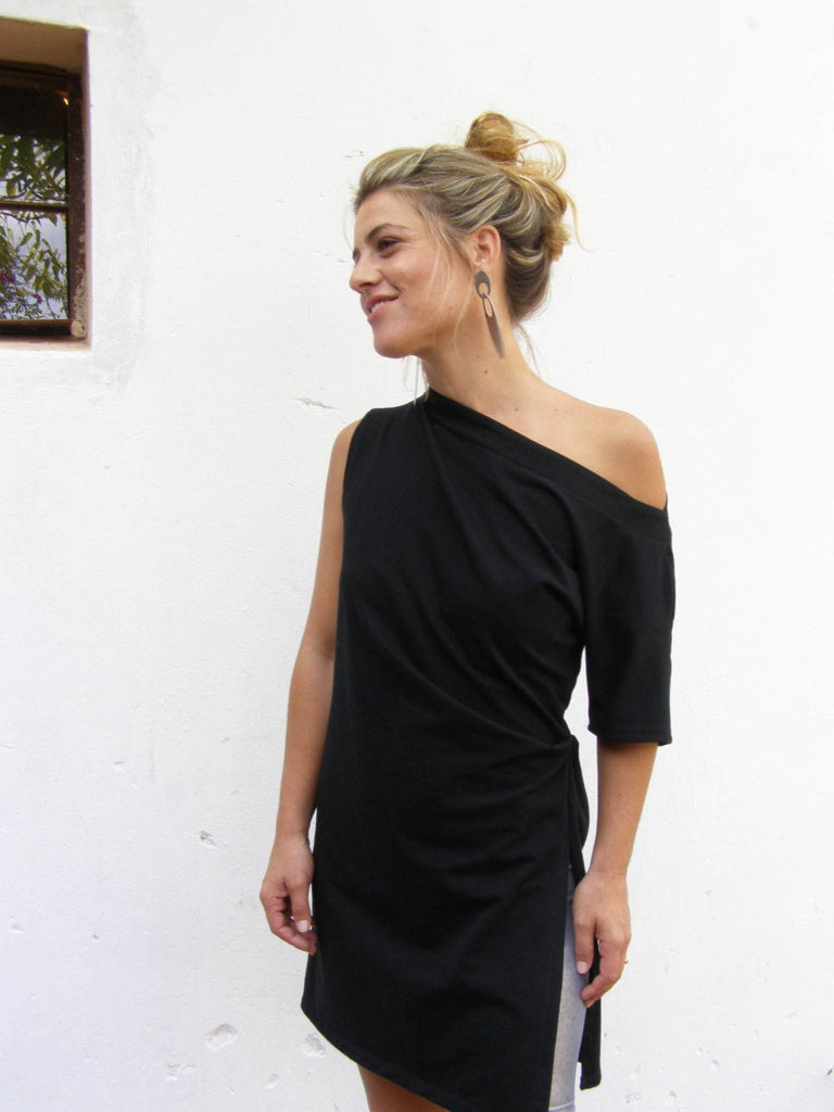 Asymmetrical Off The Shoulder Tunic