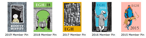 Gorey House Membership Pins