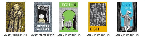 Edward Gorey House Membership Pins