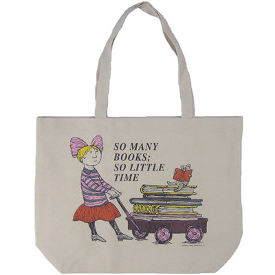 So Many Books Girl Tote Bag