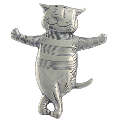 Cat About Town Pin Sterling Silver