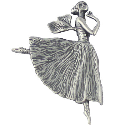 Winged Ballerina Pin Sterling Silver - GoreyStore