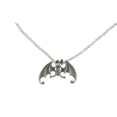 Bat Necklace Sterling Silver - GoreyStore
