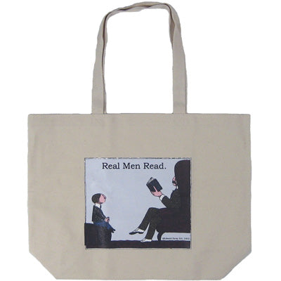 Real Men Read Tote Bag