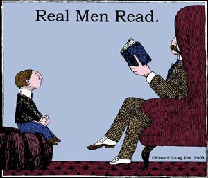 Edward Gorey Real Men Read Youth T-Shirt
