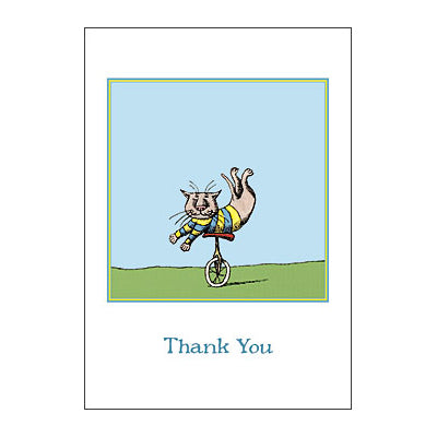 Thank You (Unicycle Cat) Notecards - GoreyStore