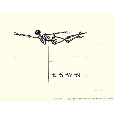 Skeleton Weathervane Print - GoreyStore
