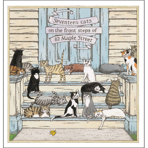 17 Cats of Maple Street Print - GoreyStore