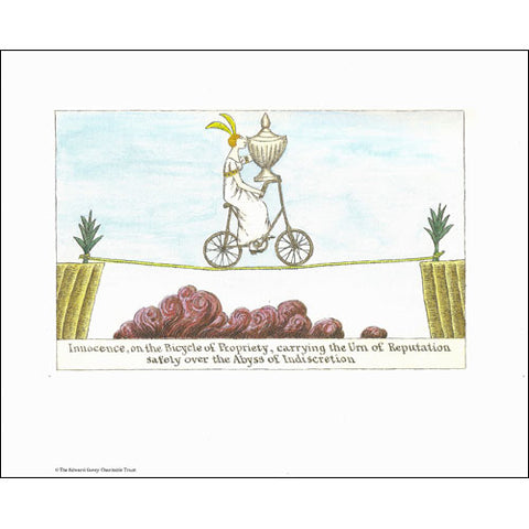 Innocence, on the Bicycle of Propriety Print