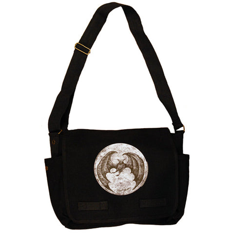 Bat Moon Messenger Bag - GoreyStore