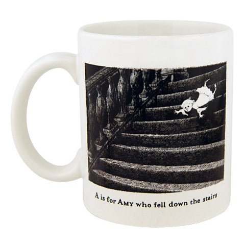 A is for Amy who fell down the stairs Mug - GoreyStore