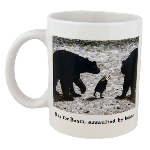 B is for Basil assaulted by bears Mug - GoreyStore
