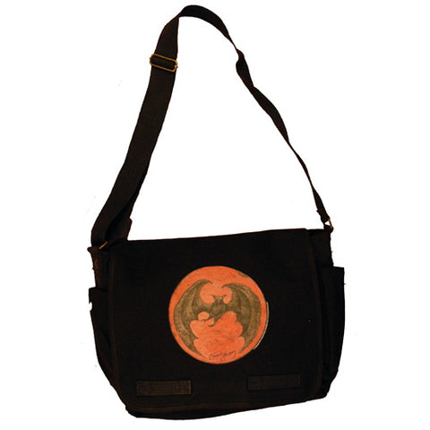 Bat Moon (Orange) Messenger Bag