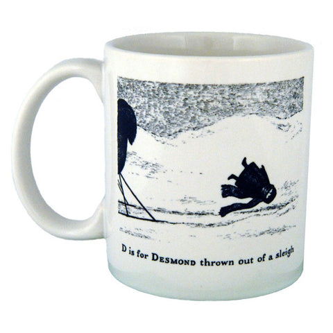 D is for Desmond thrown out of a sleigh Mug