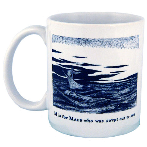 M is for Maud who was swept out to sea Mug - GoreyStore
