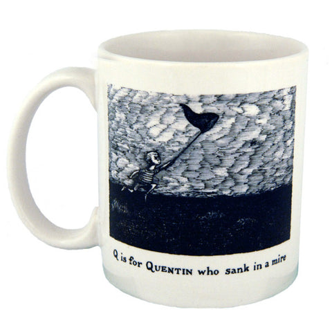 Q is for Quentin who sank in a mire Mug - GoreyStore