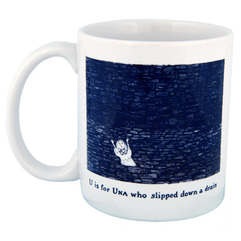 U is for Una who slipped down a drain Mug