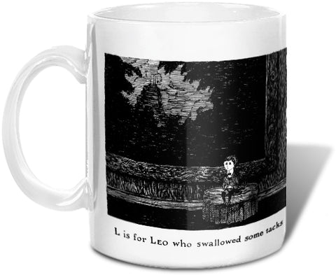 L is for Leo who swallowed some tacks Mug - GoreyStore