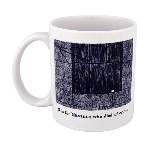 N is for Neville who died of ennui Mug - GoreyStore