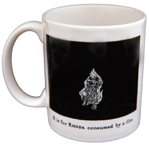 R is for Rhoda consumed by a fire Mug - GoreyStore