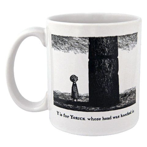 Y is for Yorick whose head was knocked in Mug - GoreyStore