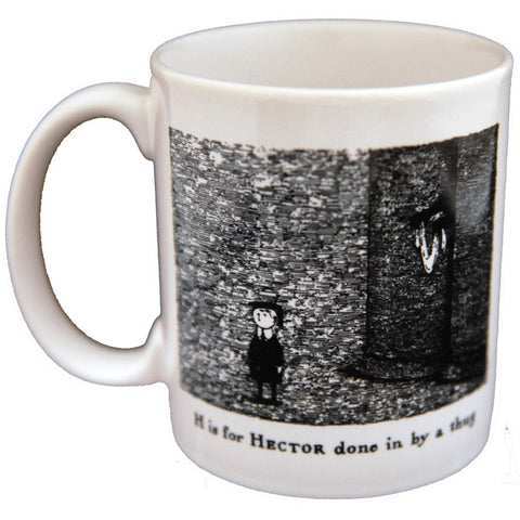 H is for Hector done in by a thug Mug - GoreyStore