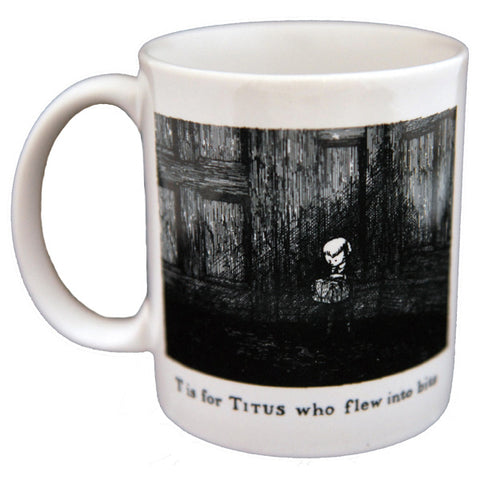 T is for Titus who flew into bits Mug - GoreyStore