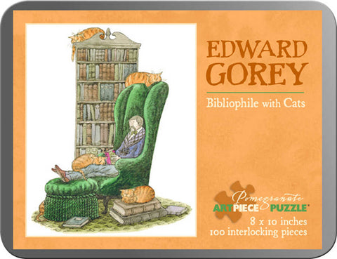 Edward Gorey Bibliophile with Cats Puzzle