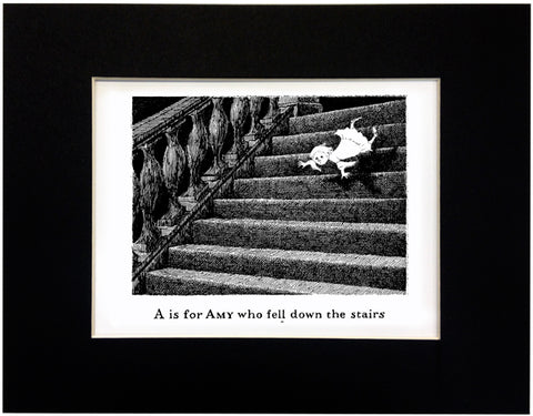 A is for Amy who fell down the stairs Print - GoreyStore