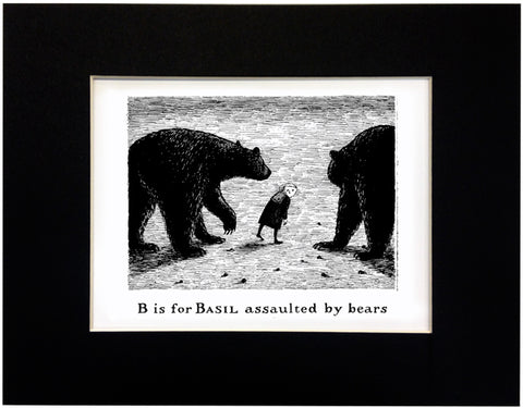 B is for Basil assaulted by bears Print - GoreyStore