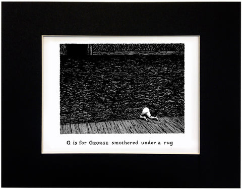 G is for George smothered under a rug Print - GoreyStore