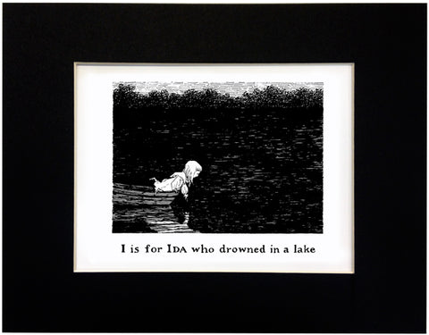 I is for Ida who drowned in a lake Print