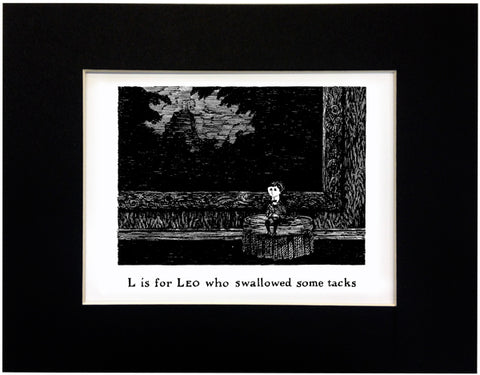 L is for Leo who swallowed some tacks Print